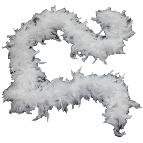 Cynthia's Feathers 65g Chandelle Feather Boas Over 80 Colors & Patterns to Pick Up (White) for $<!--$8.25-->