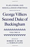 img - for Plays, Poems, and Miscellaneous Writings associated with George Villiers, Second Duke of Buckingham: Volume II book / textbook / text book