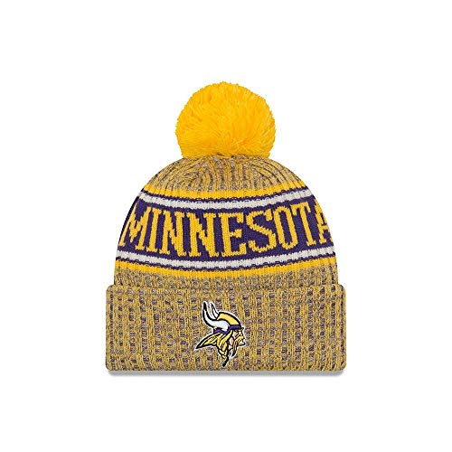 Minnesota Gear Vikings (New Era 2018 NFL Minnesota Viking Reverse Sport Stocking Knit Hat Winter Beanie)