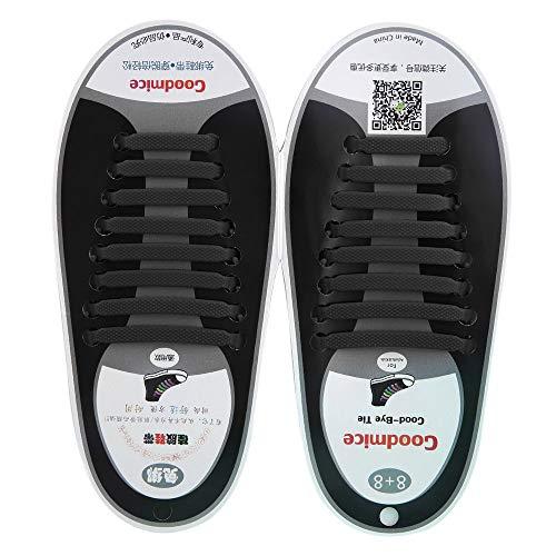 Tutte Scarpe Lacci da Design Set Le in per Sneakers Nuovo 16pcs Pizzo in Adatti Elastico per in Senza Gli Uomini Comodo Silicone Jeans xqRnwg