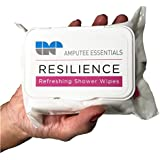 Amputee Essentials Resilience Shower Wipes, Tea Tree Oil, Vitamin E & Aloe, 30 Count
