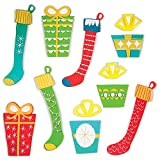 Design Ideas GelWonder Window Accessory 10'' x .1'' x 13'' Package of Gel Stickers, Stockings and Gifts