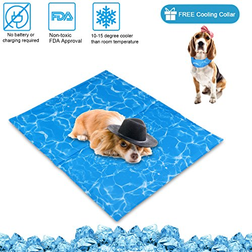 N&R Dog Cooling Mat/Pad/Bed - Cool Gel Technology - Help Your Pet Stay Cool and Reduce Joint Pain -...