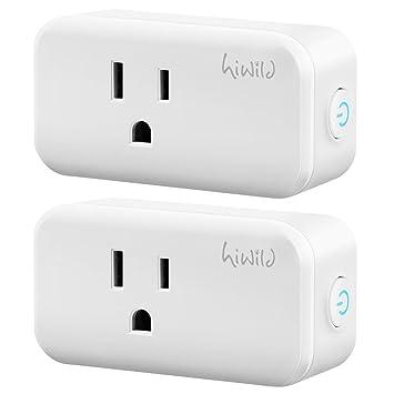 Hiwild enchufe inteligente, mini WiFi salida homekit compatible ...