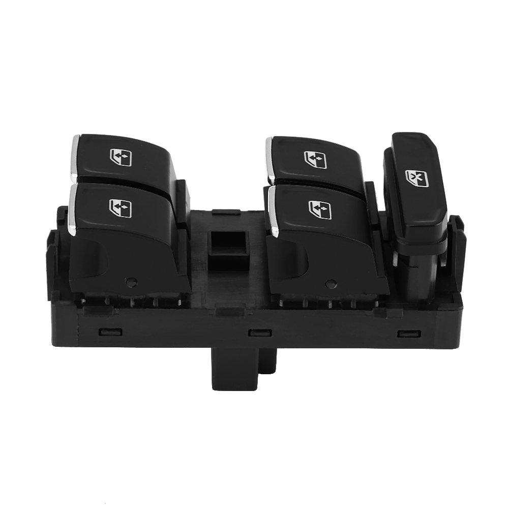 interruptor de control maestro de la ventana de energ/ía para GTI 7 B8 Tiguan Touran 5G0 959 857C Interruptor de elevaci/ón de la ventana del coche