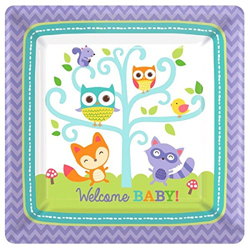 Woodland Welcome Square Plates, 10