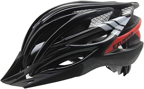 YQRQXTK Casco de Bicicleta para Hombre y Mujer Bicicleta de montaña Casco para Bicicleta Deportes al Aire Libre Casco de Ciclismo Youngster (Color : Black): Amazon.es: Deportes y aire libre