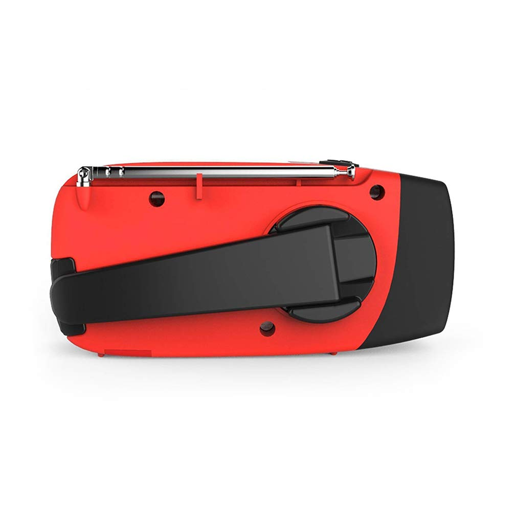 Emergency Hand Crank Radio 3 Charging Methods with Power Bank Function with LED Flashlight Reading Lamp for Outdoor Emergency Lighting