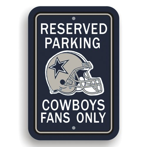 Fremont Die NFL Dallas Cowboys Plastic Parking Sign -