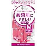 樹から生まれた手袋 リッチネ 中厚手 男女兼用 Mサイズ ピンク