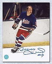 Bobby Hull Winnipeg Jets Autographed WHA First Season 8x10 Photo