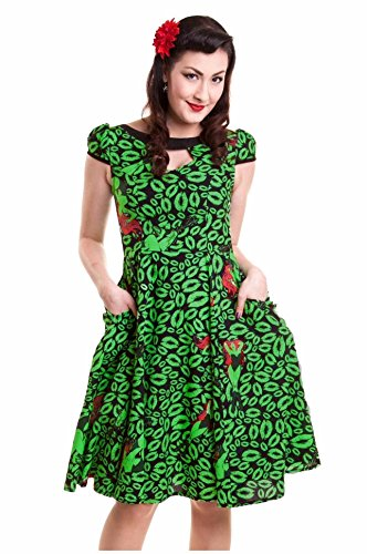 [D C Comics Poison Ivy Green Long 50s Dress Batman Suicide Squad US Size 8/10] (Batman Dress Socks)