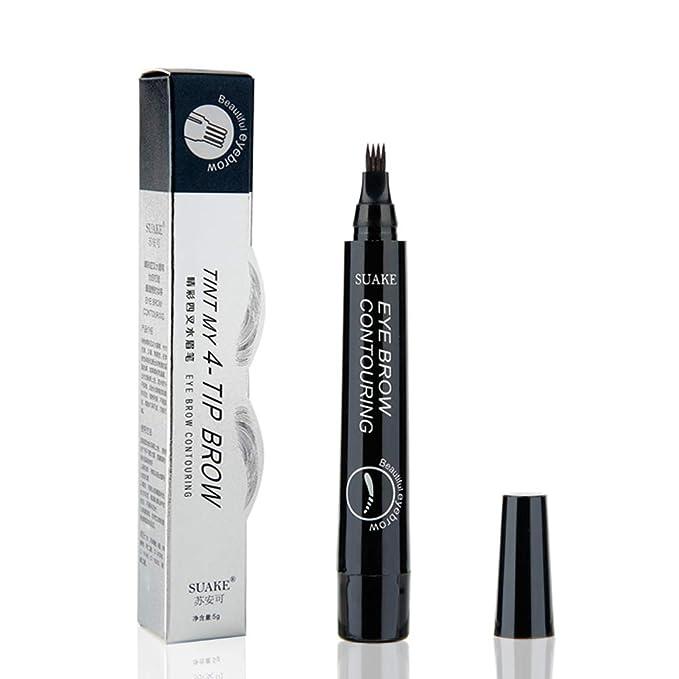 Bolígrafo de cejas con 4 colores de larga duración resistente al ...