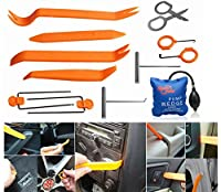 FLY5D 13Pcs Panel Removal Tools Auto Car Door Clip Radio Panel Trim Dash Audio LED Light Removal Installer Open Pry ToolPDR Pump Wedge