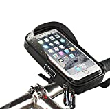 XPhonew Bike Handlebar Bag, Bicycle Phone Holder, Waterproof Bicycle & Motorcycle Handlebar Phone Mount Stand with 360 Rotate for iPhone XR MAX XR XS 8 7 6S 6 Plus Samsung LG Smartphones up to 6''