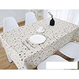 DW&HX Nordic Cotton Linen Table Cover Tablecloths Table Cloth Small Fresh Square Lattice Home Kitchen Easy Care Washable Tablecloth-O 80x120cm(31x47inch)