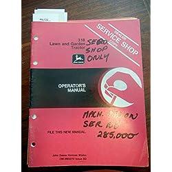 New Operators Manual For John Deere Lawn & Gar