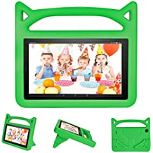 All-New Fire HD 8 Case for Kids, DICEKOO Light Weight Shock Proof Convertible Handle Friendly Stand Kid-Proof Protective Cover Cases for Amazon Fire 8 inch Display Tablet(2016&2017 Release) Green