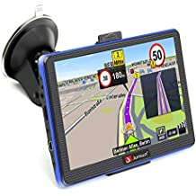 GPS Navigation for Car 7 Inch Vehicle GPS Navigation Car System 8G Memory Portable Truck Navigator Touch Screen Multimedia Pre-Installed North America Lifetime Maps Free Update