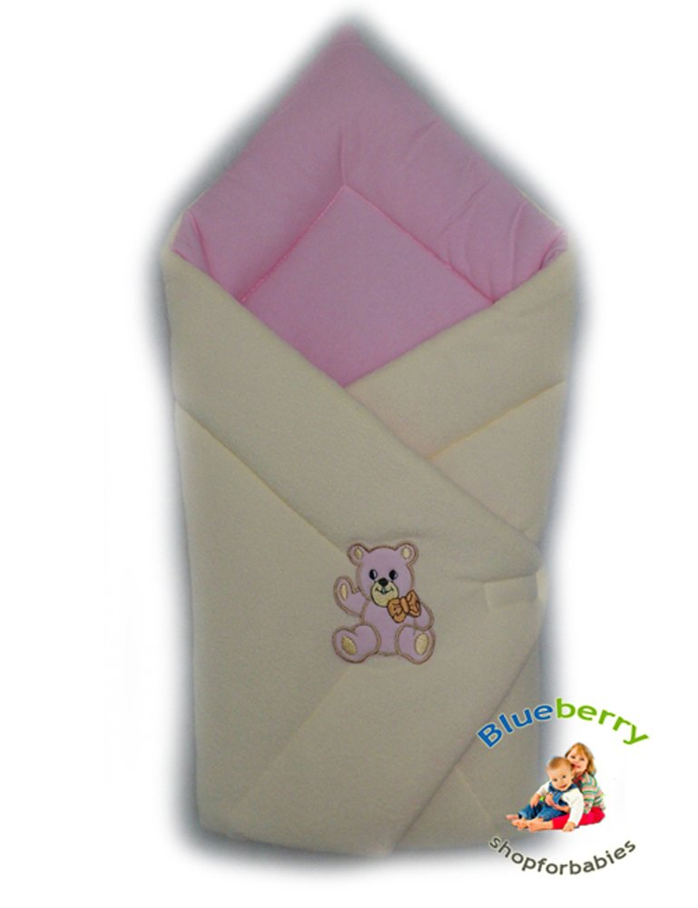 Blueberryshop Cosy Fleece auto sedile avvolgente/coperta per neonato, bianco Blueberry Shop for Babies 50001001