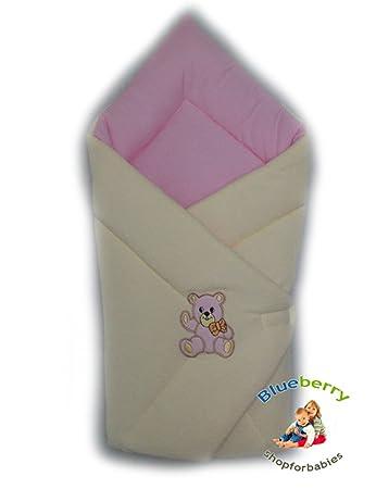 BlueberryShop Cosy Fleece For CAR SEAT Swaddle Wrap Blanket Sleeping Bag Newborn Baby Shower GIFT