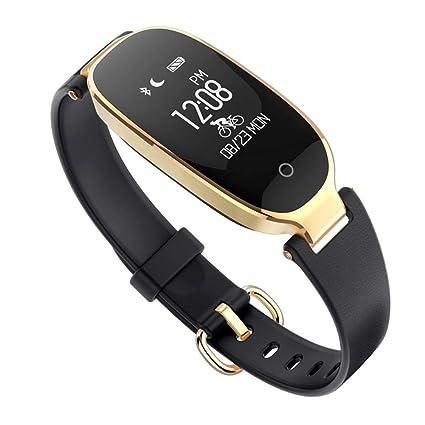 SDSFMF Reloj Inteligente Bluetooth Impermeable, Reloj ...
