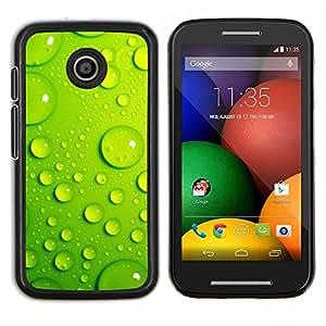 LECELL--Funda protectora / Cubierta / Piel For Motorola Moto E -- Hoja Gota de Agua Verde 3 --