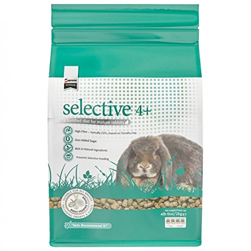 Supreme Petfoods Science Selective Food for 4 Plus Years Old Rabbit, 4 lb, (Herbs Rabbit Food)