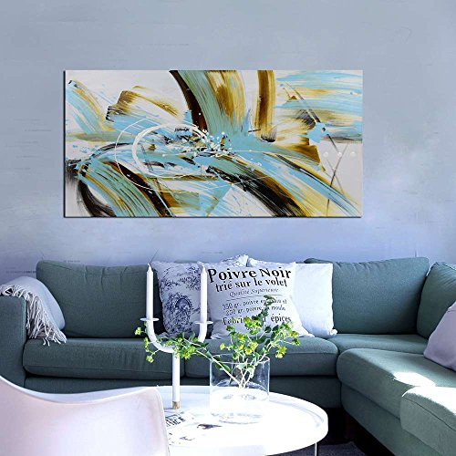 ARTLAND 24x48-inch 'The Way Of The Wind' Gallery-wrapped Hand-painted Canvas Abstract Wall Art