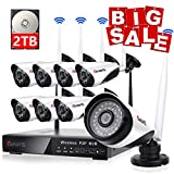 Cheap CANAVIS Wireless Surveillance Camera System with 2TB Hard Drive, 1080P HDMI NVR 8CH 1080p HD Wireless Cameras, Night Vision, Motion Detection, Manual Record or Motion Record CCTV Surveillance Systems