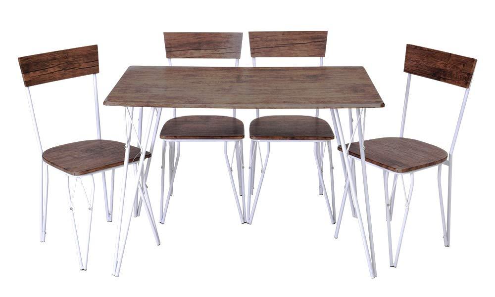 Dettagli su Set Tavolo con 4 Sedie Olmo Elegante e Moderno Per Cucina,  Salone, Sala Pranzo