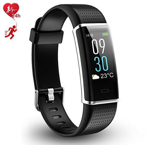 AGKupel Fitness Tracker, Activity Tracker Watch Smart Bracelet with Heart Rate Monitor, Color Touch Screen Smart Wristband with Calorie Counter Pedometer Sleep Monitor, Waterproof Sport Smart Band