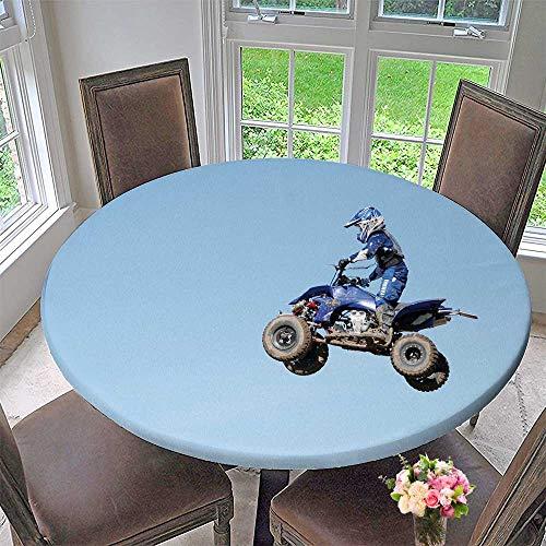 PINAFORE HOME Premium Tablecloth ATV Rider Airborne Everyday Use 47.5