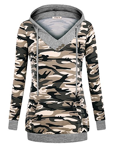 Camouflage Pullover Hooded Sweatshirt - 3