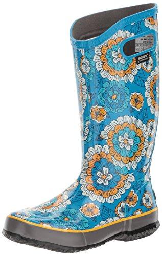 Blue Bogs Rain Women's Boot Multi Pansies Sky XSXrwq
