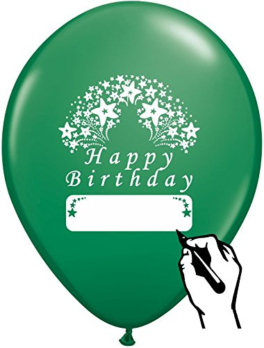 GREEN HAPPY BIRTHDAY BALLOONS 12 COUNT LARGE 12quot SIZE HB THEME WITH