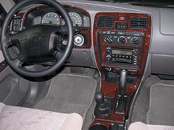 Amazon.com: TOYOTA 4RUNNER 4 RUNNER 4WD SR5 INTERIOR BURL WOOD DASH TRIM  KIT SET 1999 2000 2001 2002: Automotive