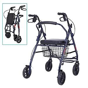 Andador con ruedas con silla de transporte plegable, for ...