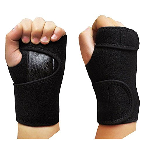 Gymforward PU Leather Wrist Wrap Adjustable Sport Gloves Hand Protector with Steel Plate for Weightlifting, Cross Training by Gymforward