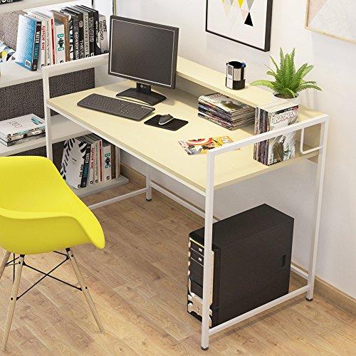 Soges Computer Desk 47' PC Desk Office Desk Workstation for Home Office Use Writing Table, Teak JS11QY00