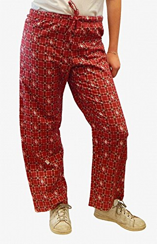 Oklahoma Sooners Unisex Team Logo Plaid Pajama Lounge Sleep Pants (Large) (Pants Sooners Pajama Lounge)