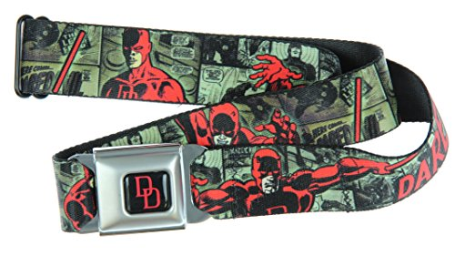 Daredevil Action Poses/comic Panels Grays/red Seatbelt Belt