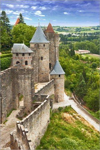 Posterlounge Cuadro de PVC 60 x 90 cm: Fortress Carcassonne in France, Languedoc de Editors Choice: Amazon.es: Hogar