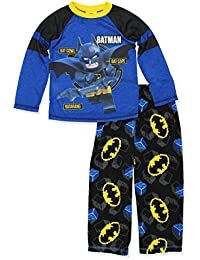 Batman Boys Poly Top with Fleece Pants Pajamas Set (Little Kid/Big Kid)