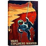 "Epic Graffiti"" Mars Series: Explorers Wanted Giclee Canvas Wall Art"