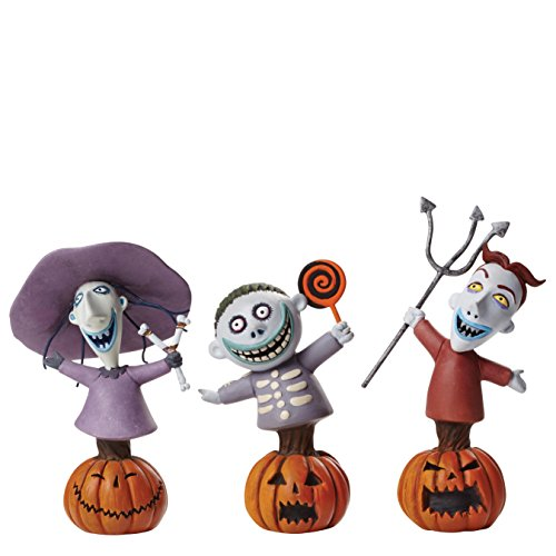 Grand Jester Studios Disney Lock Shock and Barrel Bust Figurines Set of 3 (Christmas Lock)