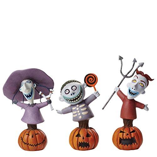 Grand Jester Studios Disney Lock Shock and Barrel Bust Figurines Set of 3 (Lock Christmas)