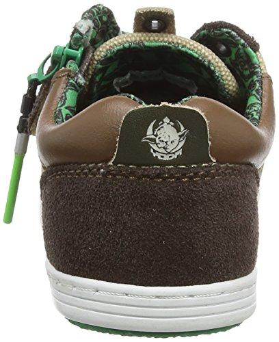 Kickers Yoda K Low - Zapatillas de deporte Niños Marron (Marron/Beige Foncé)