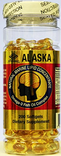 Marine Lipid Concentrate - Alaska Natural Marine Lipid Concentrate, Dietary Supplement, Omega , 540 mg 200 softgels