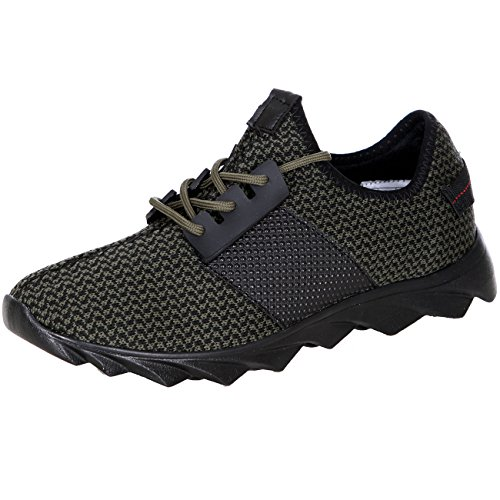 Sneaker Herren-Schuhe Schnürer Sport Design Lauf-Schuhe Profilsohle T-1035 Khaki